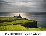 neist point lighthouse at isle... | Shutterstock . vector #384712309