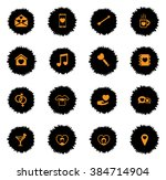 valentines day  vector icons... | Shutterstock .eps vector #384714904
