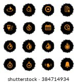 time vector icons for web sites ... | Shutterstock .eps vector #384714934