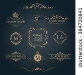 vintage design elements and... | Shutterstock .eps vector #384720841