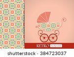baby shower announcement ... | Shutterstock .eps vector #384723037