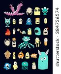 little monsters poster | Shutterstock .eps vector #384726574