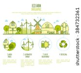 ecology farm infographic vector ... | Shutterstock .eps vector #384732361