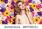 beautiful sensual woman in... | Shutterstock . vector #384740221
