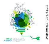 energy saving concept. vector... | Shutterstock .eps vector #384761611