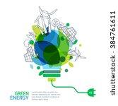 Energy Saving Concept. Vector...