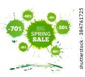 big spring sale poster design... | Shutterstock . vector #384761725