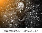 mother and daughter having fun... | Shutterstock . vector #384761857