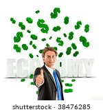 happy business man under a...   Shutterstock . vector #38476285