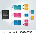 infographics flowchart. colored ... | Shutterstock .eps vector #384763789