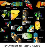 set of geometrical abstract... | Shutterstock .eps vector #384772291