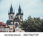 st. vitus cathedral at prague... | Shutterstock . vector #384780739