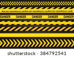 yellow with black police line... | Shutterstock . vector #384792541