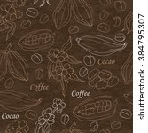 seamless pattern with coffee... | Shutterstock .eps vector #384795307