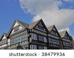 old black and white buildings... | Shutterstock . vector #38479936