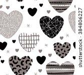 seamless love design patchwork...   Shutterstock .eps vector #384806227