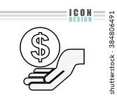 money icon design  | Shutterstock .eps vector #384806491