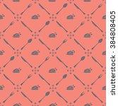 seamless dining chicken pattern   Shutterstock .eps vector #384808405