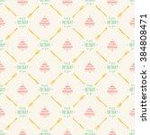 happy birthday cake seamless... | Shutterstock .eps vector #384808471