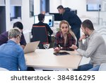 startup business team on... | Shutterstock . vector #384816295