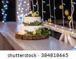 wedding cake. bokeh.  | Shutterstock . vector #384818665