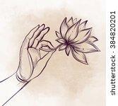 Lord Buddha's Hand Holding...