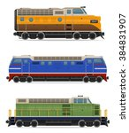 set icons railway locomotive... | Shutterstock .eps vector #384831907