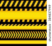 yellow with black police line... | Shutterstock . vector #384837949