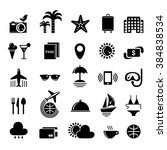 travel icon kit. black and... | Shutterstock .eps vector #384838534