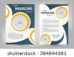 vector flyer template design.... | Shutterstock .eps vector #384844381