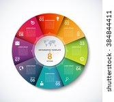 vector infographic circle... | Shutterstock .eps vector #384844411