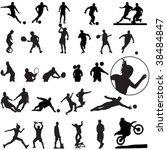 large set of sport silhouettes | Shutterstock .eps vector #38484847