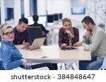 startup business team on... | Shutterstock . vector #384848647