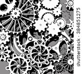 cogwheels background  3d render | Shutterstock . vector #384851275