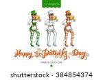 st patricks day lettering beer... | Shutterstock . vector #384854374