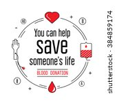 Blood Donation Icons Flat Styl...