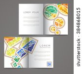 set of vector design templates. ... | Shutterstock .eps vector #384868015