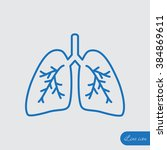 line icon  lungs   | Shutterstock .eps vector #384869611
