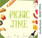 picnic time | Shutterstock .eps vector #384873994