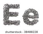 wires metal font | Shutterstock . vector #38488228