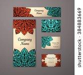 templates set. business cards ... | Shutterstock .eps vector #384883669