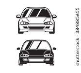 vector car for logo  label ... | Shutterstock .eps vector #384885655