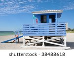 Lifeguard Station On The Beach