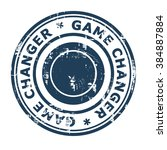 game changer business concept... | Shutterstock . vector #384887884