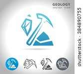 geology icon set  collection of ... | Shutterstock .eps vector #384890755