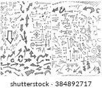 vector hand drawn arrows set...
