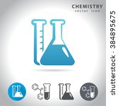 chemistry icon set  collection... | Shutterstock .eps vector #384895675