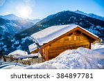 alps holiday cottage | Shutterstock . vector #384897781