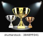 gold  silver and bronze...   Shutterstock . vector #384899341
