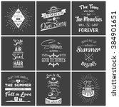 set of vintage summer... | Shutterstock .eps vector #384901651
